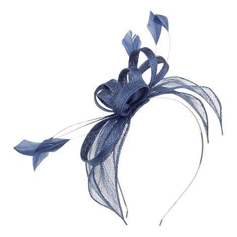 cf52cf07c4e Small navy fascinator headband as accent for bridesmaids Failsworth Hats  Jenaya Fascinator - Navy