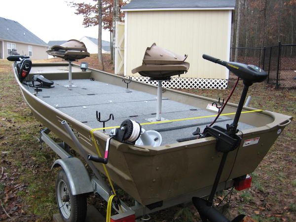 10 Decked Out Jon Boats You Ll Want For Yourself Jon Boat Jon Boat Fishing Boat Restoration