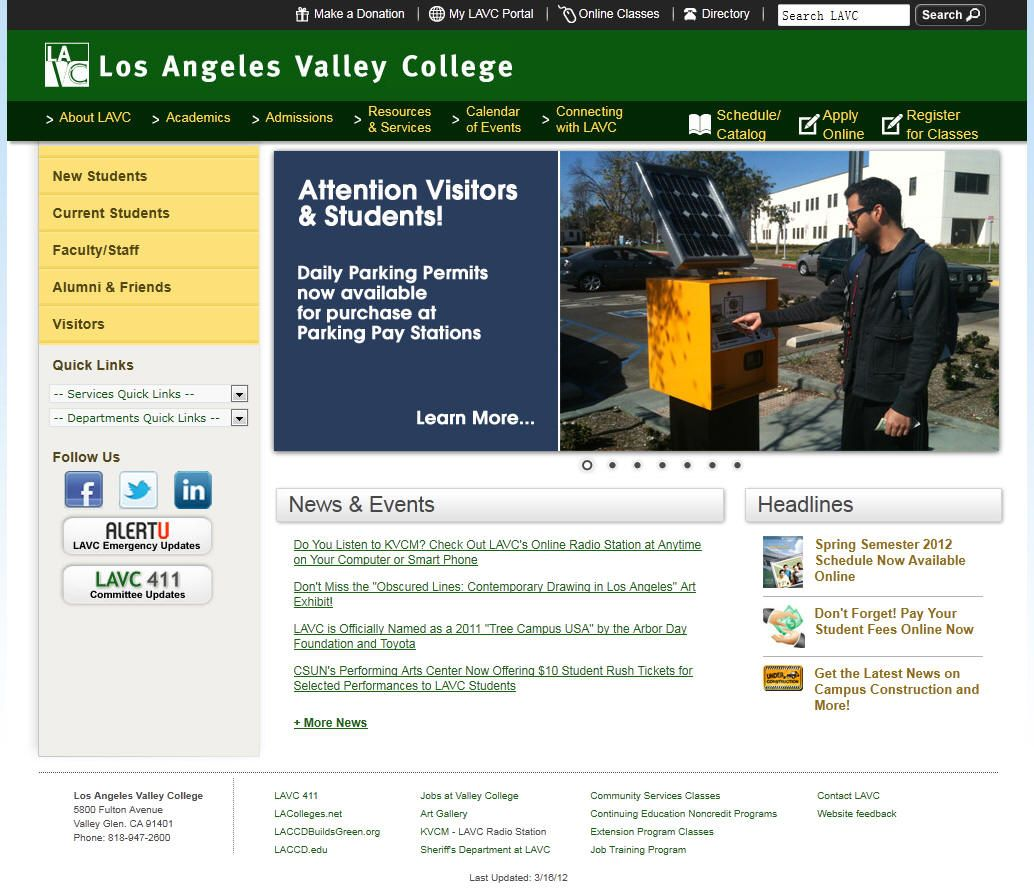 Los Angeles Valley College Valley College College Resources College