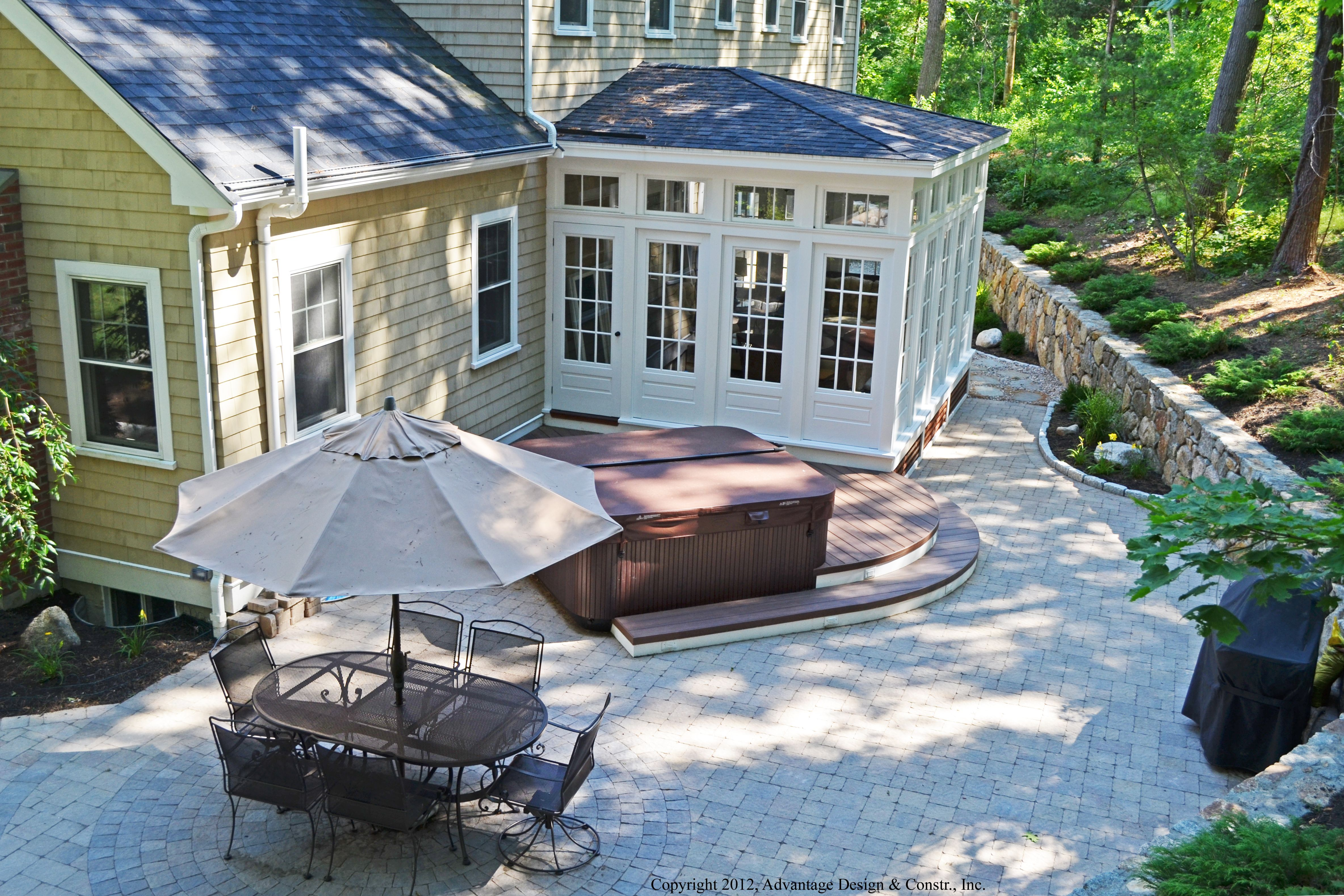the sunroom windows were also an important part of the design description from archadeck - Sunroom Patio Designs