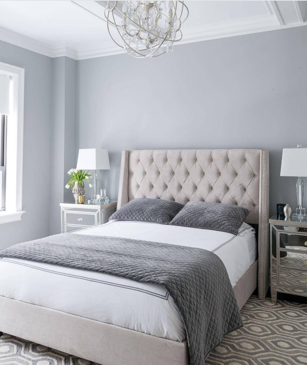 Master bedroom ideas grey  This appears to be subordination in its finest I canut say there is
