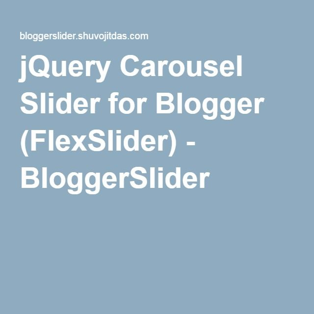 jQuery Carousel Slider for Blogger (FlexSlider