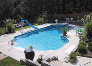 Grecian l shape swimming pool kits pool ideas for Grecian swimming pool