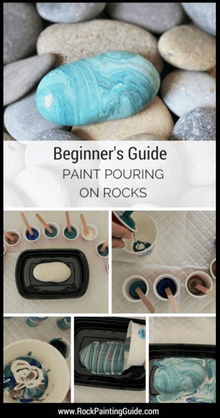 Paint pouring on rocks made easy [Rock Painting Beginners] - Merys stores#beginners #easy #merys #paint #painting #pouring #rock #rocks #stores