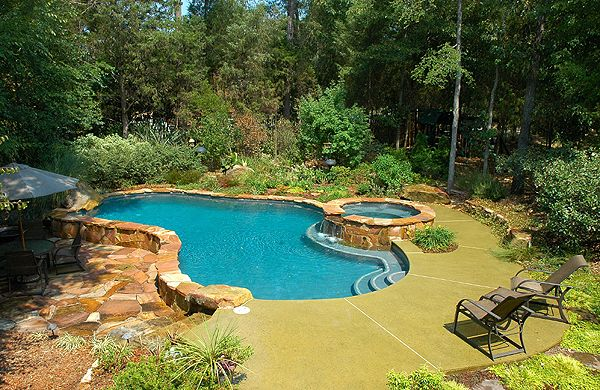 Natural Charlotte Nc Pool With Raised Spa From Artesian Pools
