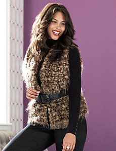 463358e31bf Faux fur vest by Lane Bryant   This is a must have!  69.95