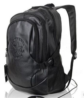 eb503f88247b Converse All-Star Waterproof PU Leather Fashion Solid-Color Backpack 2  Colors
