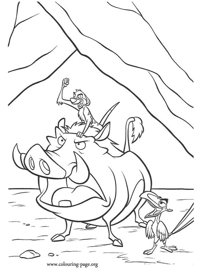Timon and Pumba   Coloring pages   Pinterest