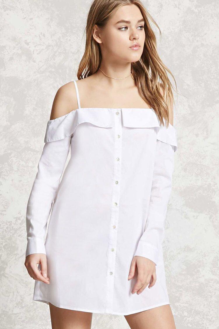 Openshoulder buttoned dress spring clothes pinterest shoulder