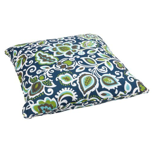 Mozaic Sabrina Corded Indooroutdoor 26inch Floor Pillow Large Floral Navy This Is An Amazon Associate Indoor Outdoor Pillows Floor Pillows Outdoor Cushions