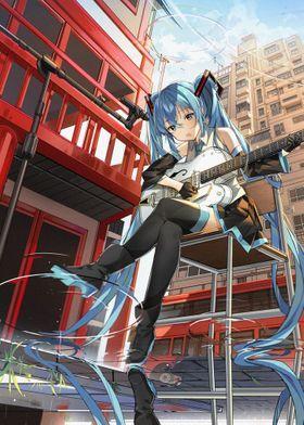 Metal Poster Hatsune Miku