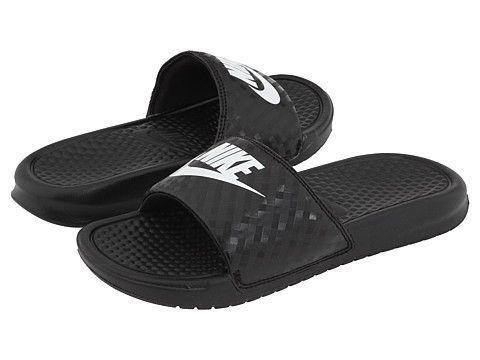 Nike Benassi Jdi Slide Black White, Nike, Shoes