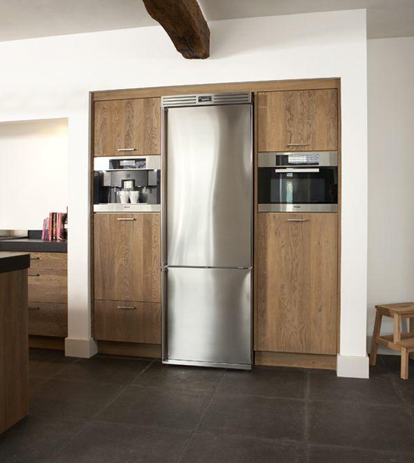 Houten Keukens Inbouw Apparatuur Houten Keuken Keukens Moderne Keukens #refrigerator #in #living #room