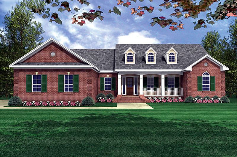 Country style house plan 4 beds 25 baths 2000 sqft