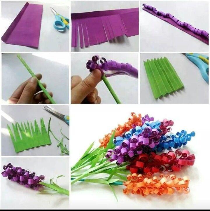 DIY paper bluebonnet flowers