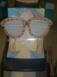 ebcf28ca657a End of year writing activity: The kids write about a summer vacation they  had or one they plan to have. Then they write the final on the sunglasses,  ...