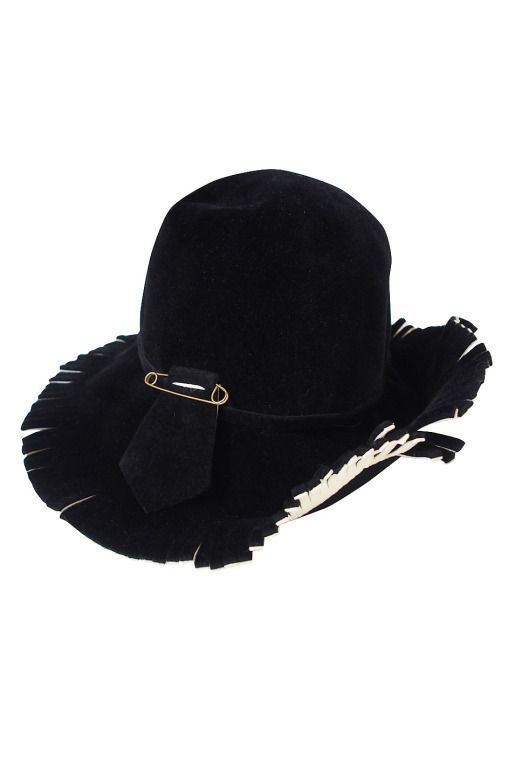 a8e100fb 1970s Fringed Yves Saint Laurent Hat | From a collection of rare vintage  hats at http