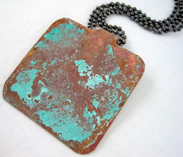 Vinegar and Salt Patina   12 Ridiculously Amazing Patina Projects   DIY Patina crafts   diyready.com