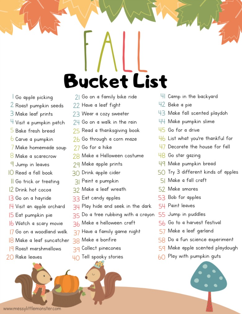 Fall Bucket List #fallbucketlist