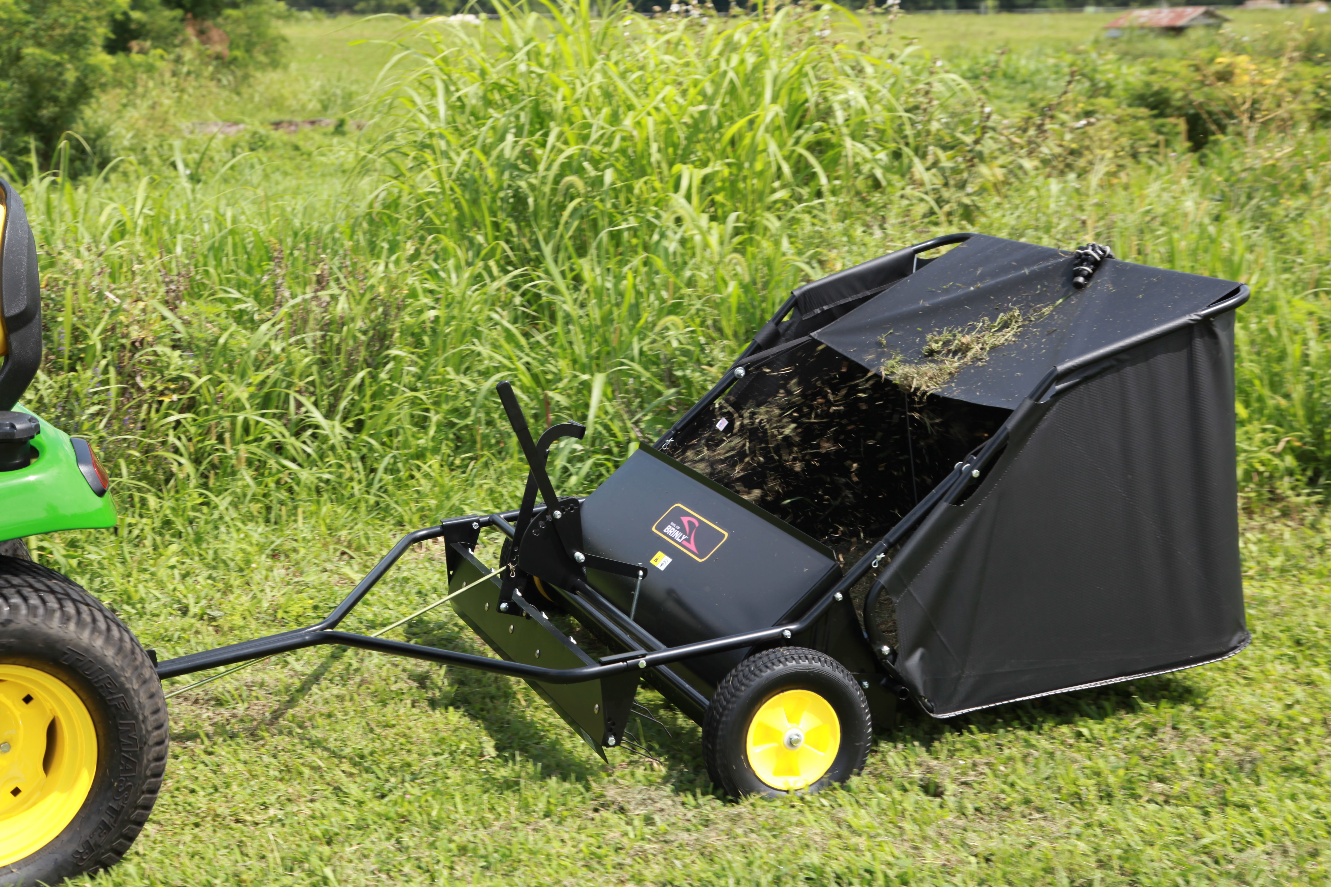 how to dethatch a lawn with a mower