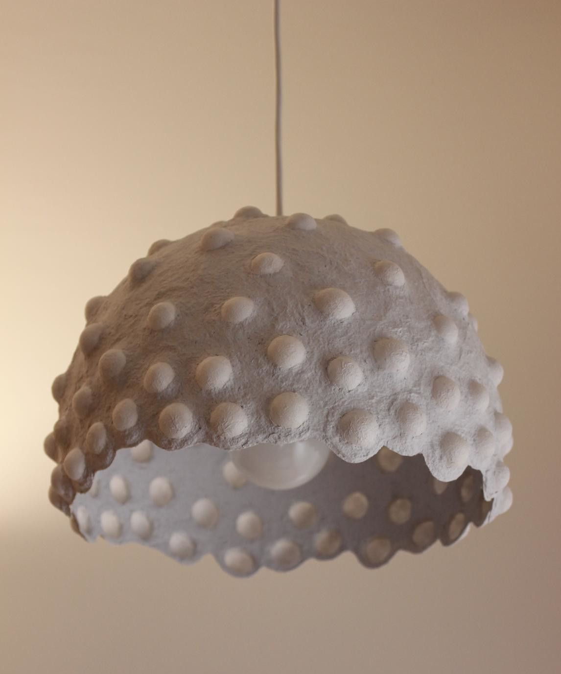 Paper Mache Pendant Light Recycled Paper Lampshade Paper Pulp Light Translucent Paper Light Hanging Lamp 30 Cm 12 Inches Diameter Paper Lampshade Pendant Light Set Plug In Pendant Light