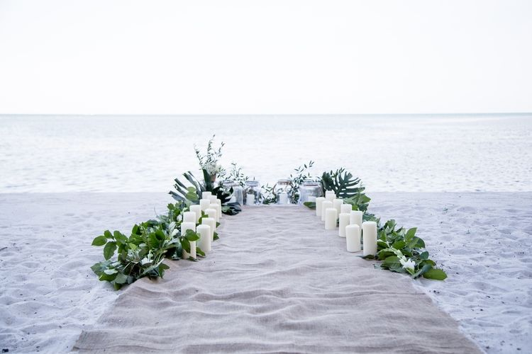 Beach Wedding And Boudoir Styled Shoot Diy Beach Wedding Beach