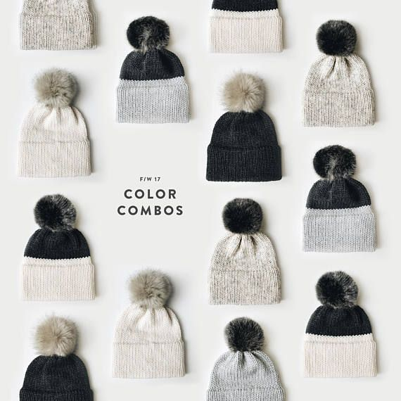 Girls Ribbed Ski Beanie Hats with Faux Fur Pom Pom/'s 6 colours fast post