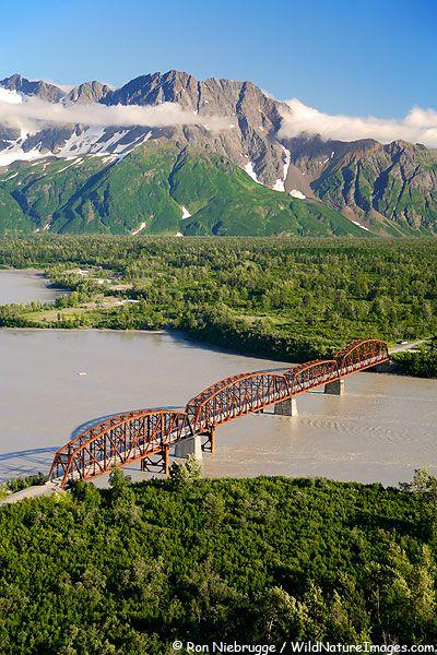 Million Dollar Bridge spanning the Copper River, Chugach National Forest, Alaska