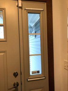 Front Door Oval Window Privacy