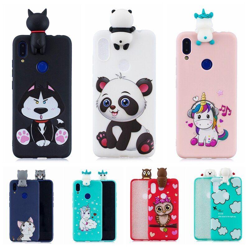 Funda Para Xiaomi Redmi Note 7 Pro Funda 3d Funda Blanda De Silicona Con Diseno De Panda Unicornio Gato Funda Para Xiaomi Redmi Note 7 In 2021 Xiaomi Note 7 Case
