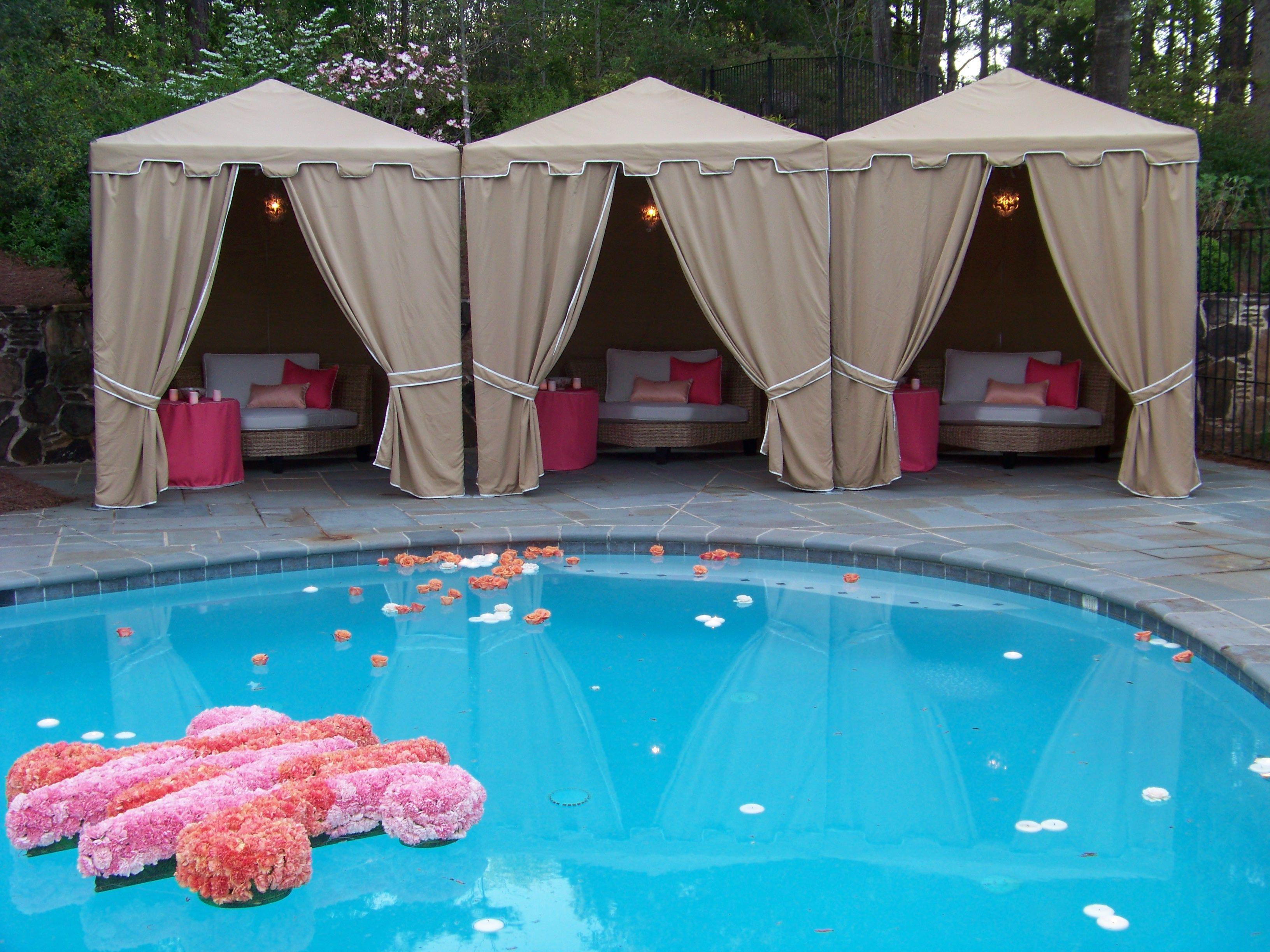 Pool Wedding Decoration Ideas find this pin and more on pool decorating ideas Pool Decor