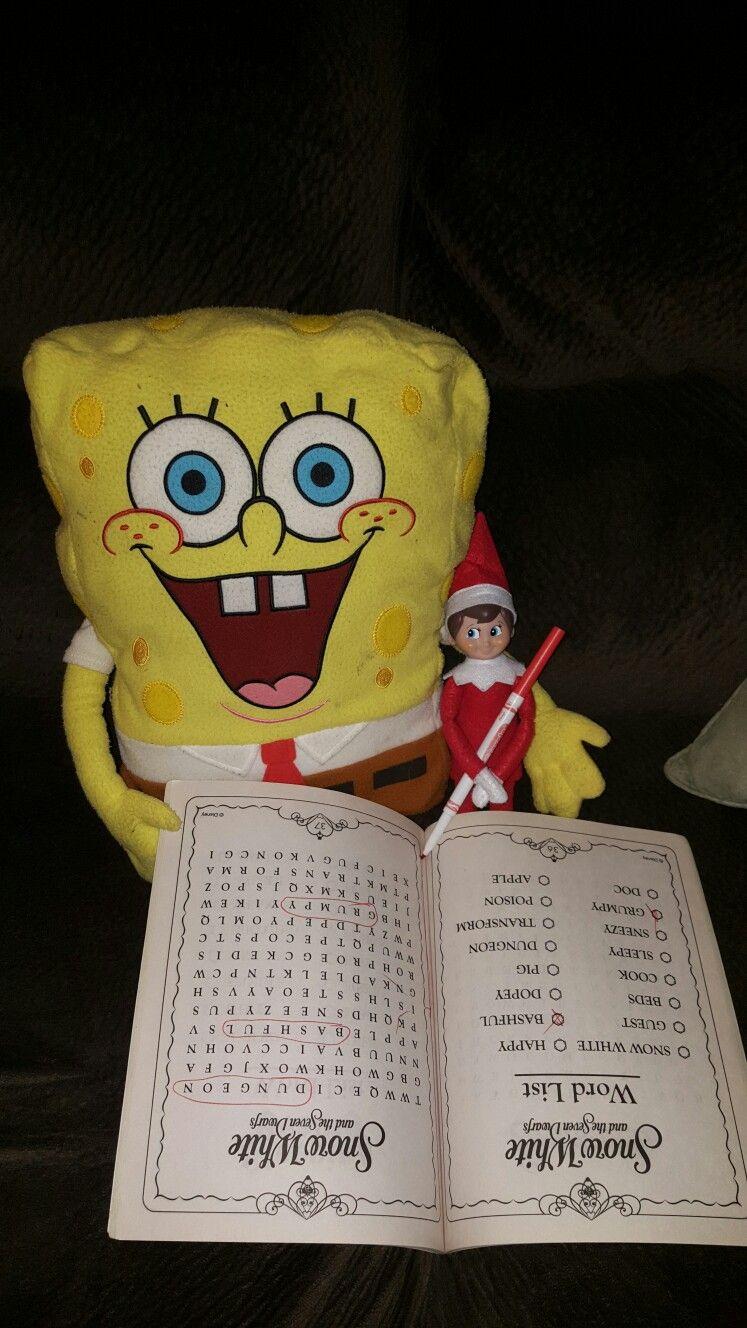 My Alvin and spongebob | Elf on a shelf | Pinterest