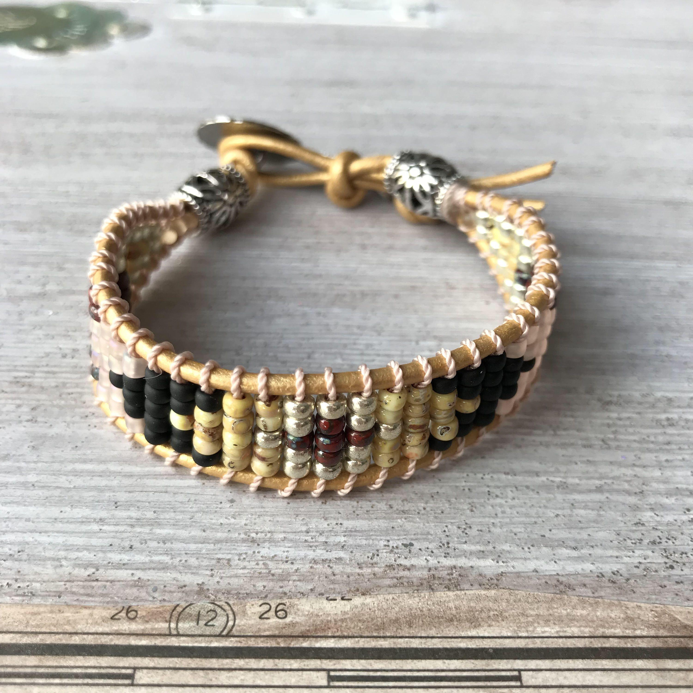 Indian Seed Bead Bracelet Indian Motif Native American