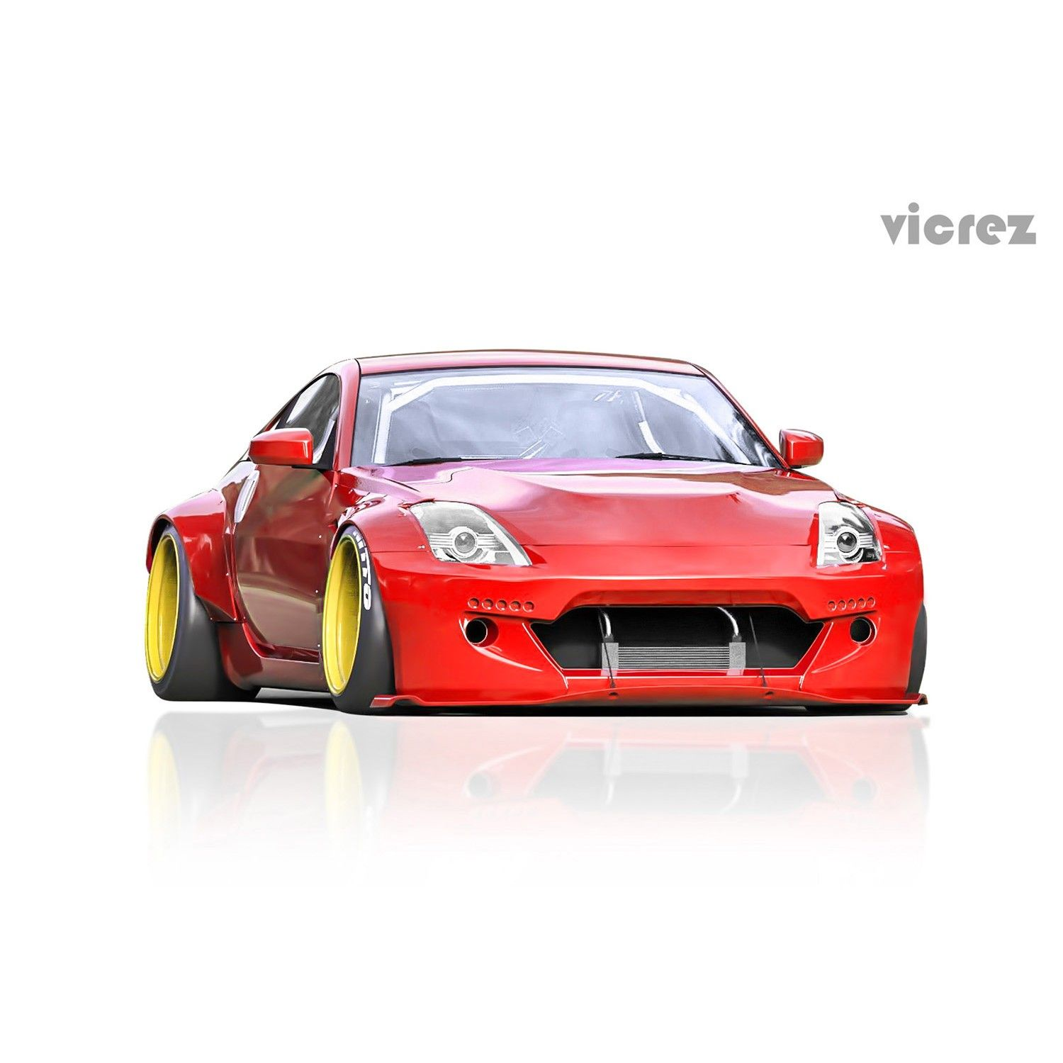 Nissan Juke Yellow Car 4k Wallpaper: Vicrez Nissan 350z 2003-2008 Rocket Bunny Polyurethane