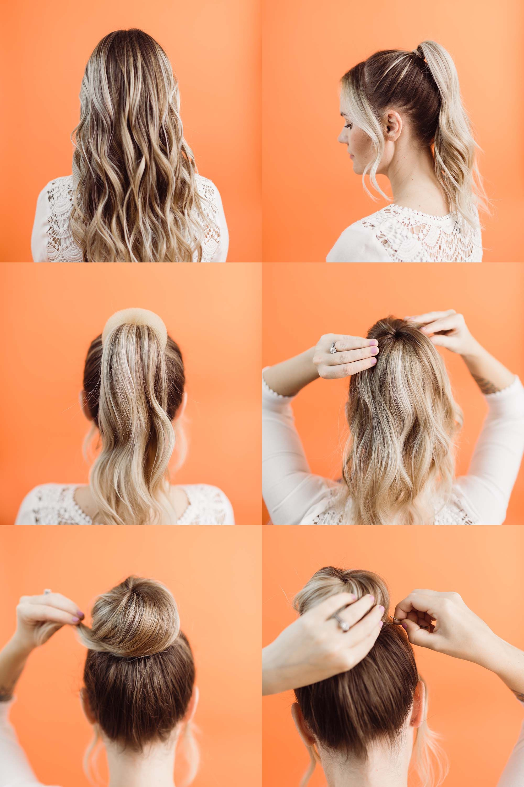 How To Style A Donut Bun A Beautiful Mess High Bun Hairstyles Bun Hairstyles Donut Bun Hairstyles