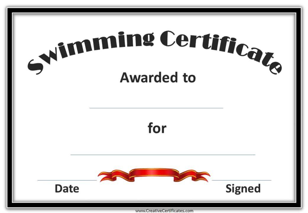 Swimming Certificates 3g 1040720 Pixels Swim Chart