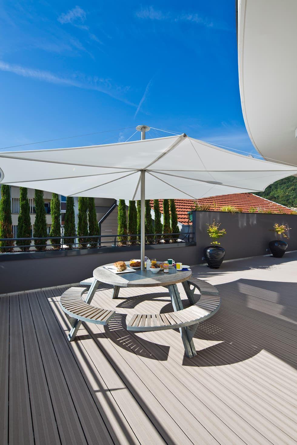 Appartement carte blanche balcon, veranda & terrasse modernes par anne-maud & natacha moderne ...
