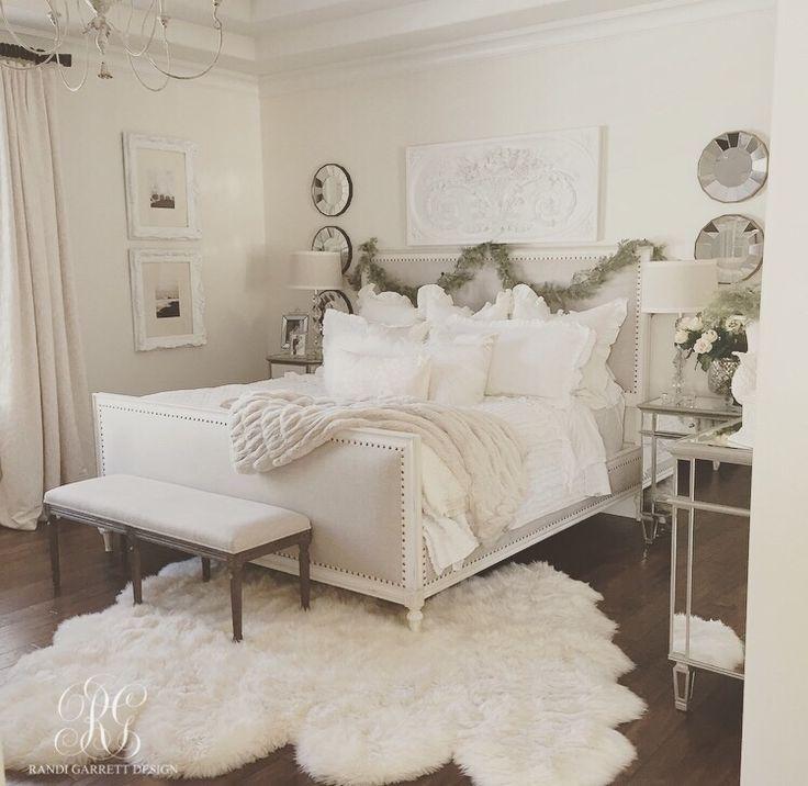 Elegant White Master Bedrooms: 2015 Christmas Home Tour