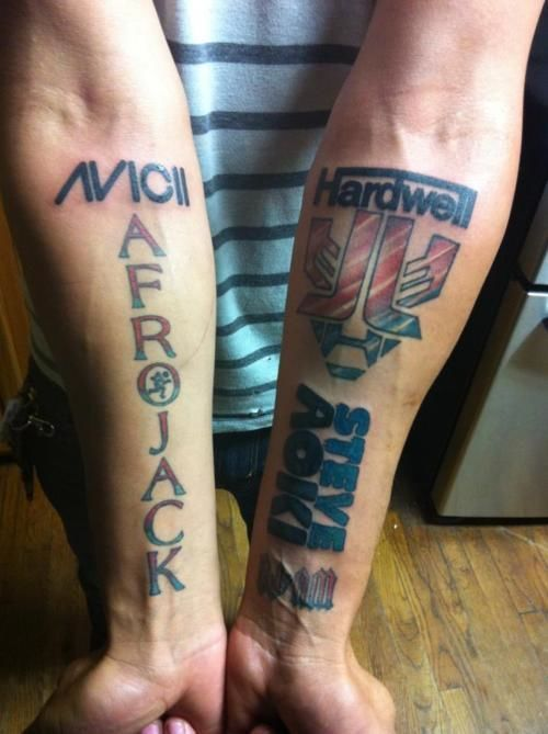 Diehard fan tattoos Avicii, Afrojack, Hardwell and Steve ...