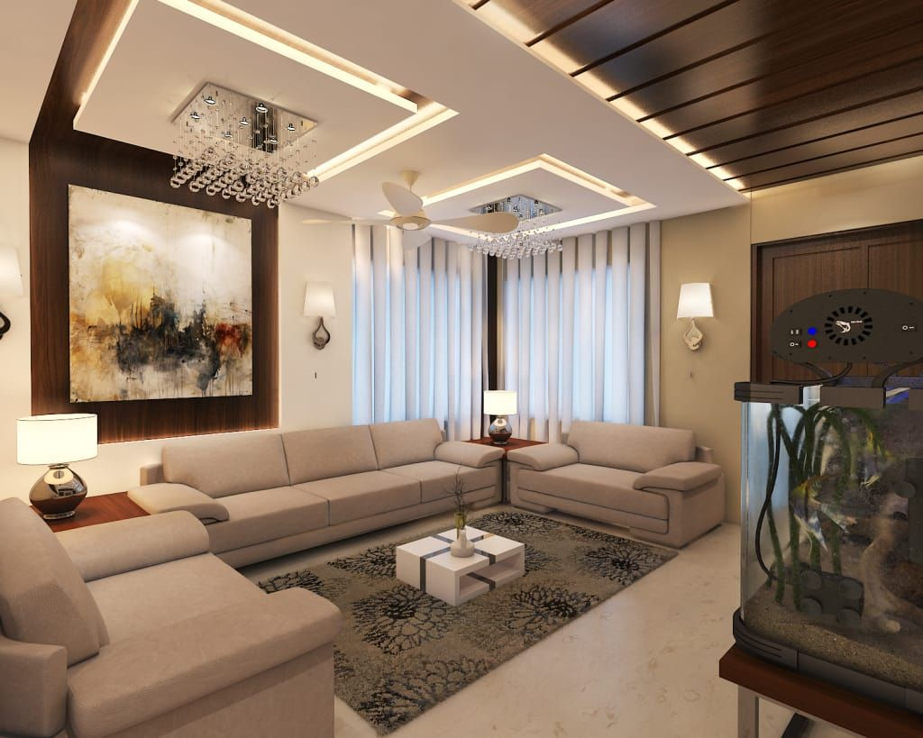 Here are small living room designs that make them look bigger than they are and are very clever with storage · 1. Drawing room: modern by arch point,modern   homify   Hall ...
