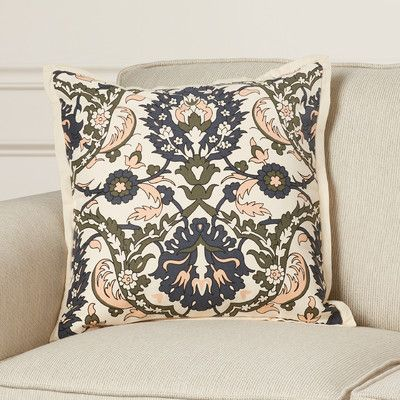 "Darby Home Co Coeur Throw Pillow Size: 18"" H x 18"" W x 4"" D, Color: Pastel Pink/Olive/Charcoal/Black/Ivory"