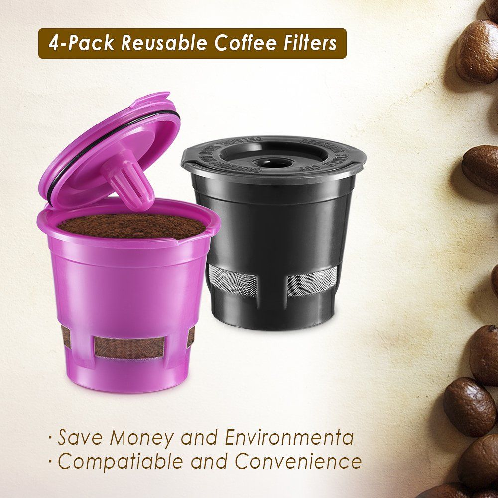 CHULUX 4Pack Reusable Mesh Coffee Filter for Single Cup