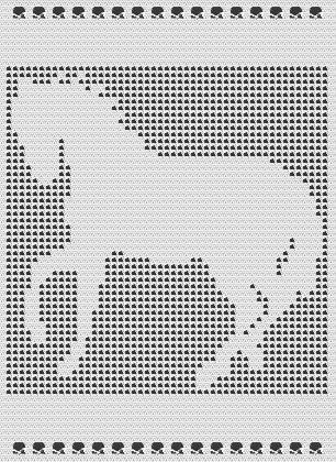 Filet Crochet Afghan Patterns Hundreds Of Gorgeous Designs Horse