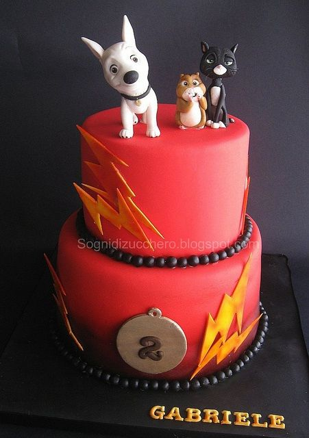 Disney Bolt Birthday Cake - Sharon, I want this for my birthday!  (orange flavor of course)