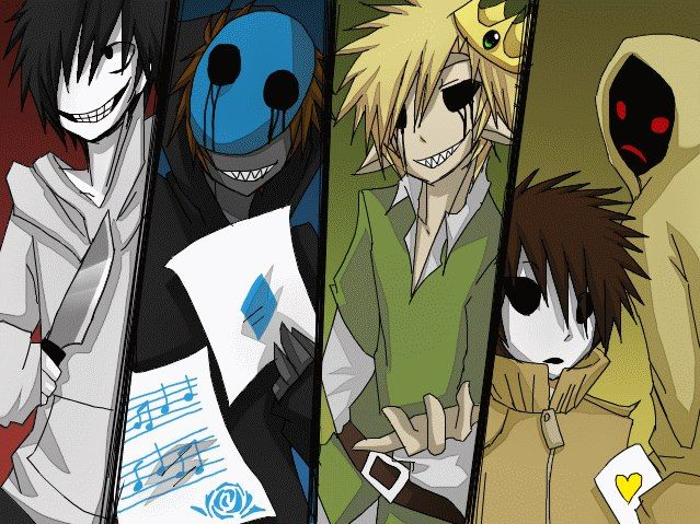 From Left To Right Jeff The Killer Eyeless Jack Ben Drowned