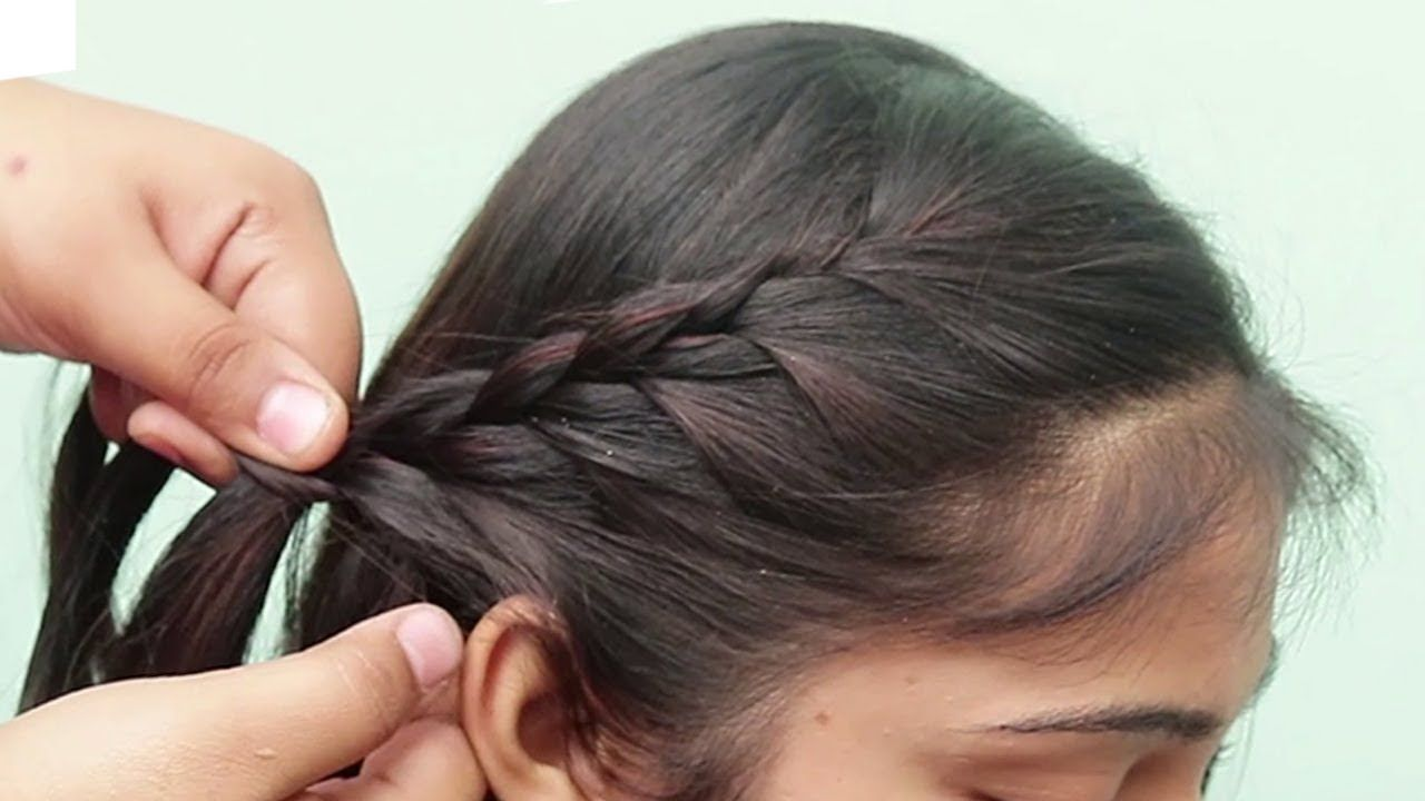 Easy Cute Hairstyle For Girls Beautiful Hairstyle Simple Hairstyle Hai In 2020 Girls Hairstyles Easy Girl Hairstyles Easy Hairstyles