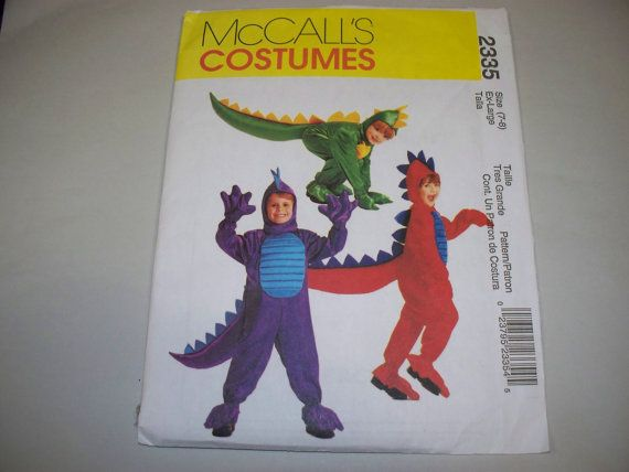 New McCall's Childs' Dragon Costume Pattern 2335 (7-8)