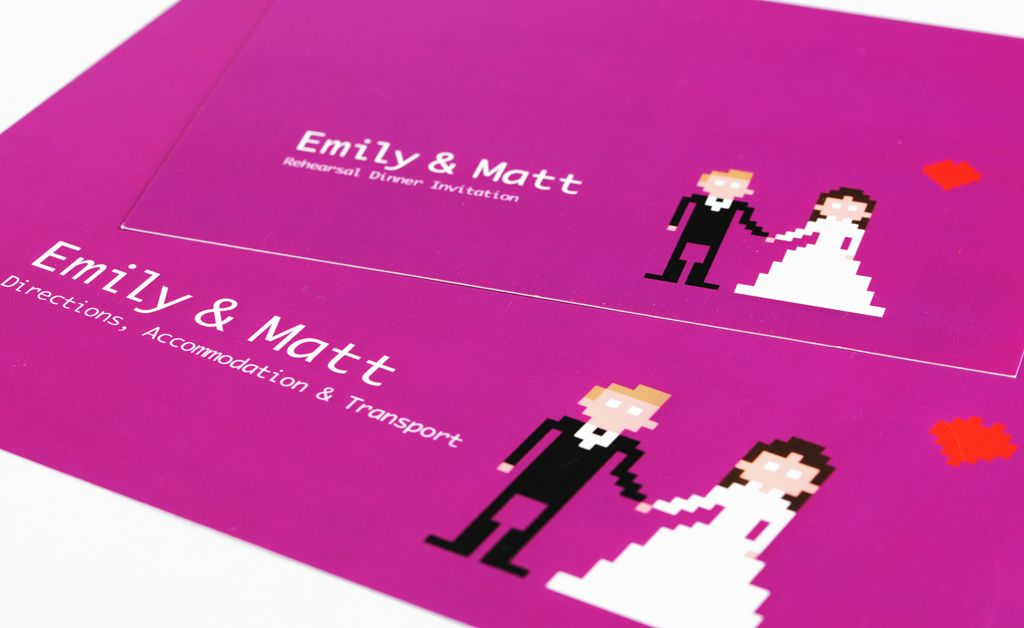 geek wedding invitations wedding stationery invites hipster wedding indoor wedding vineyard wedding invitation ideas printed materials 8 bit - Nerdy Wedding Invitations