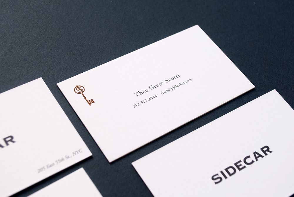 PJ Clarke\'s Sidecar | Business Card #nyc #restaurant #branding ...