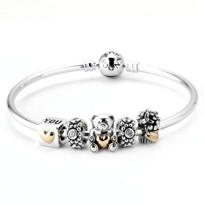 bracelet pandora or argent